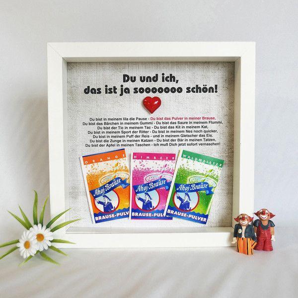 Bilderrahmen Hochzeit Geschenk Liebe 3D Brause
