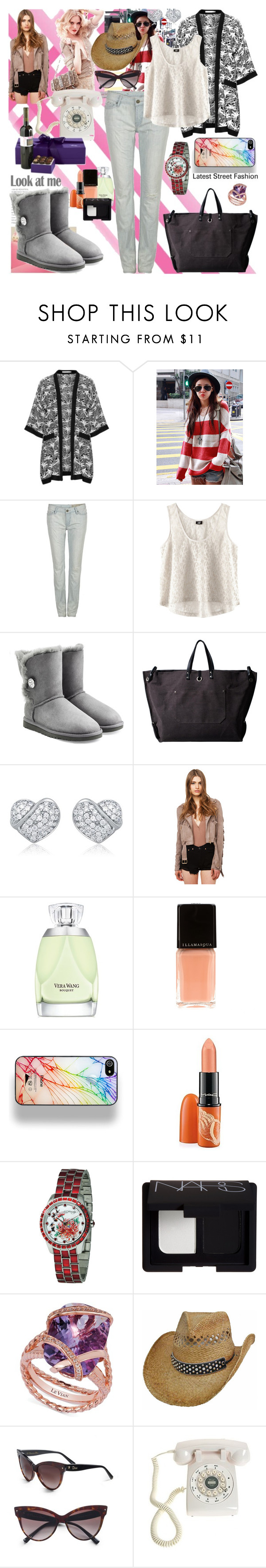 """500 Letters..."" by black-wings ❤ liked on Polyvore featuring Studio, AllSaints, H&M, UGG Australia, Hideout, Akira Black Label, Vera Wang, Illamasqua, Zero Gravity and MAC Cosmetics"