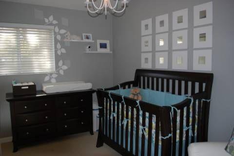 Gray Walls With Espresso Furniture Grey Baby Room Baby Bedroom
