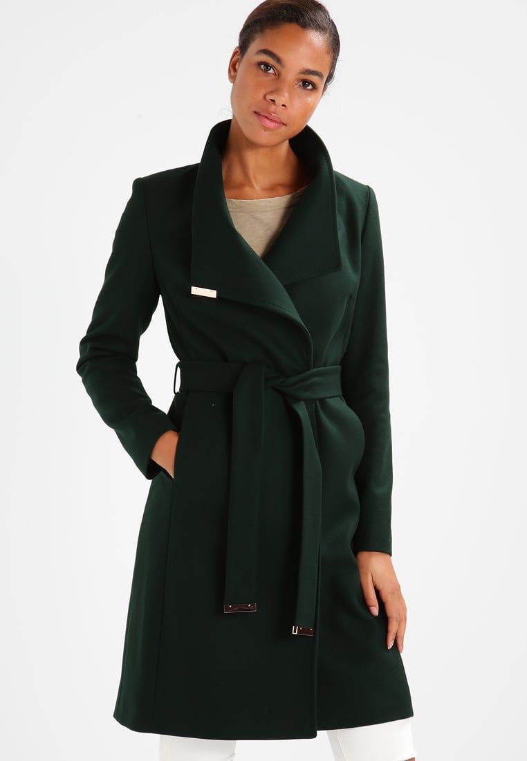 4b7a680cbfd Ted Baker KIKIIE WRAP - Classic coat - dark green - Zalando.co.uk ...
