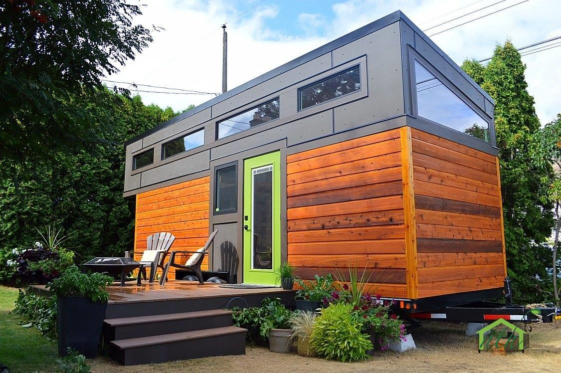 Wondrous The Pursuit A Beautiful Cedar Canadian Made Tiny House From Home Interior And Landscaping Ponolsignezvosmurscom
