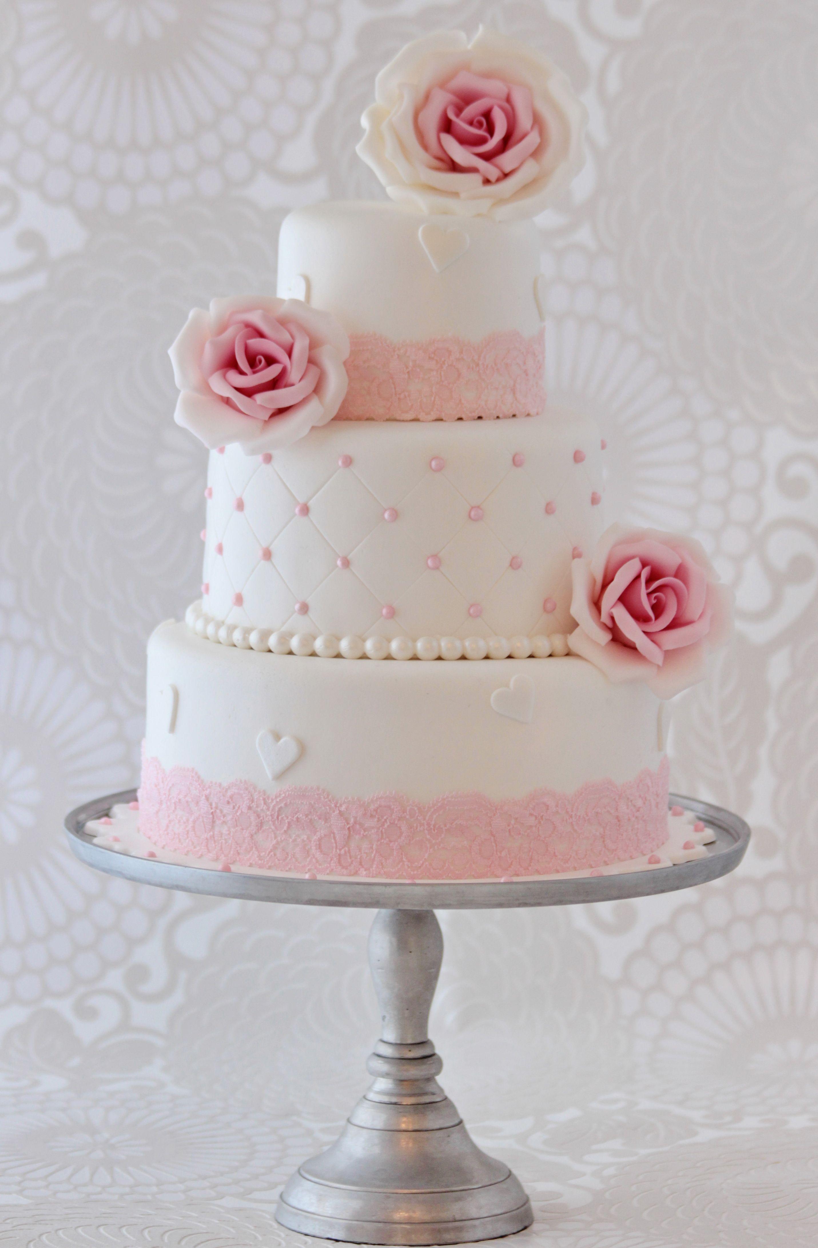 Klassieke bruidstaart wedding ideas pinterest rosa for Torten dekorationen