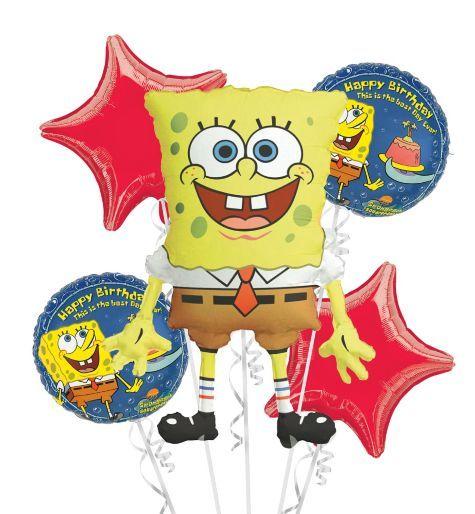 Spongebob Large Foil Balloon Supershape Birthday Decorations
