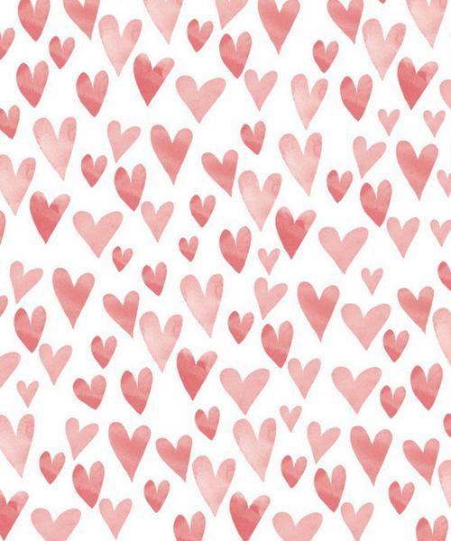 Valentines Heart Print #valentines #hearts #print #illustration #pink #inspiration