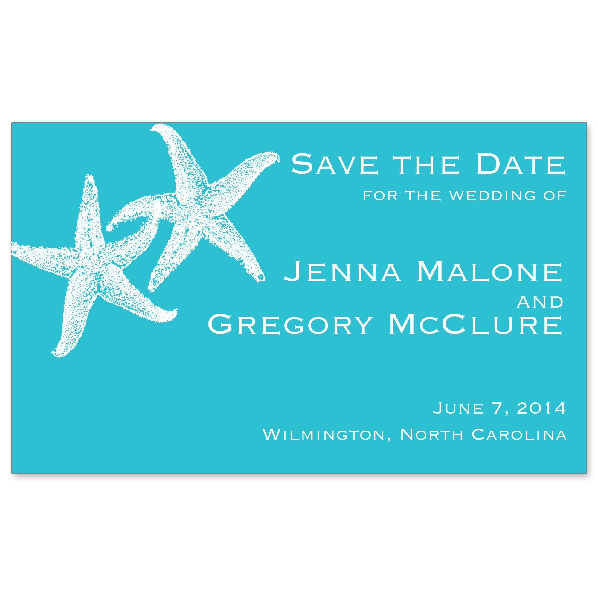 Imperial Starfish Save The Date Magnet Exclusively WeddingsLong Island WeddingsBeach