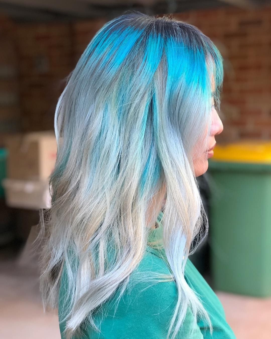 Loreal Ombre On Dyed Hair Arcticfoxhaircolor We Love This Smokey Blue To Blonde