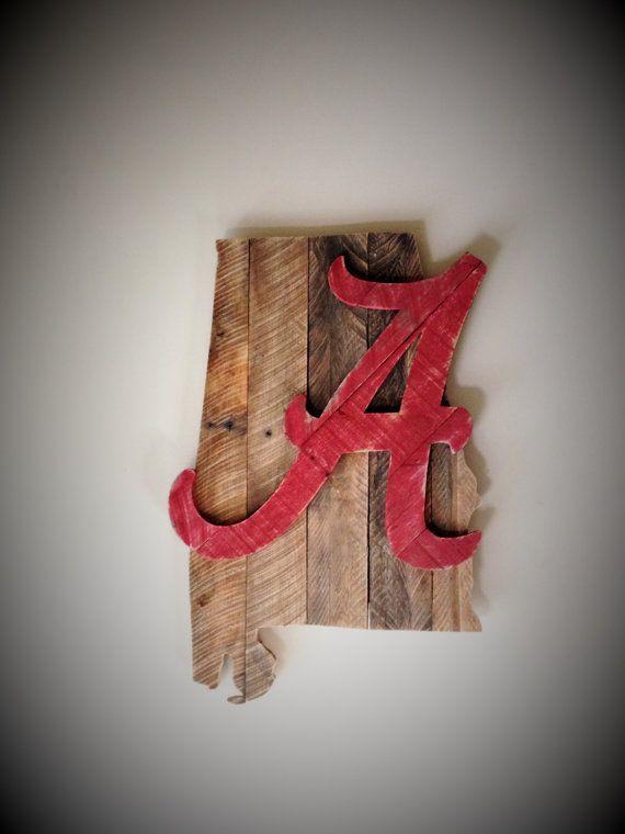 Alabama Crimson Tide Decor Alabama Roll Tide Reclaimed Wood Wall Decor Alabama Crimson Tide Decor Alabama Crafts Reclaimed Wood Wall Art