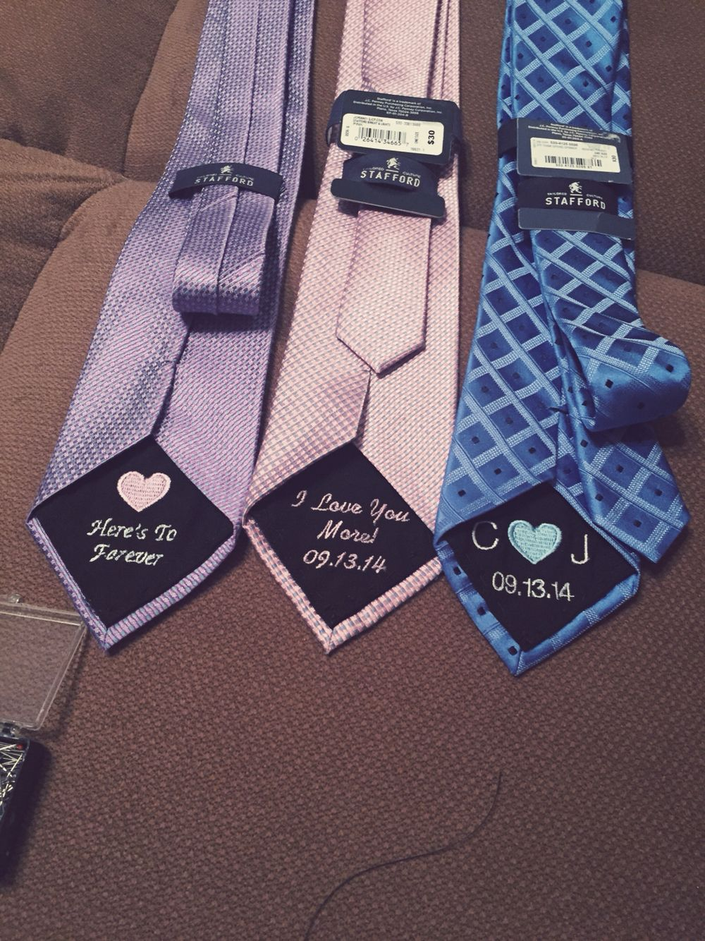Wedding Tie Patch For The Groom Custom Engagement Gift
