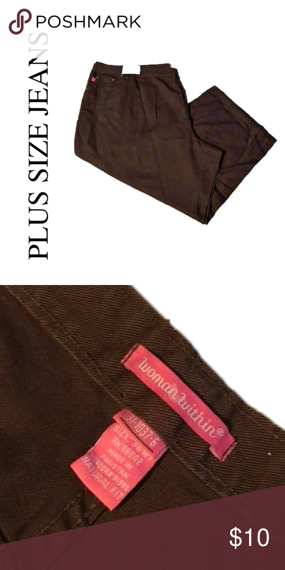 f8fa06a4666 36 Womens Petite 36WP Chocolate Brown Jeans Women Within