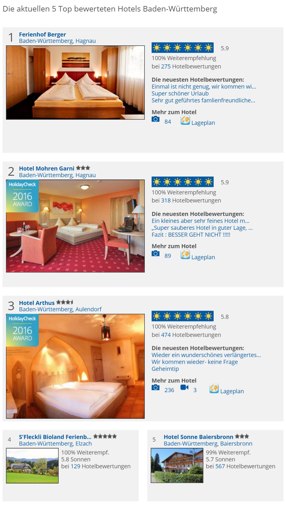 Die besten Hotels Baden-Württemberg. Planen Sie eine Baden-Württemberg Reise und…