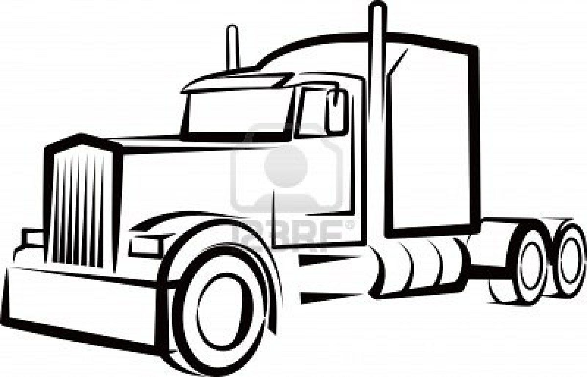 Simple Illustration With A Truck Truck Tattoo Semi Trucks Simple Illustration