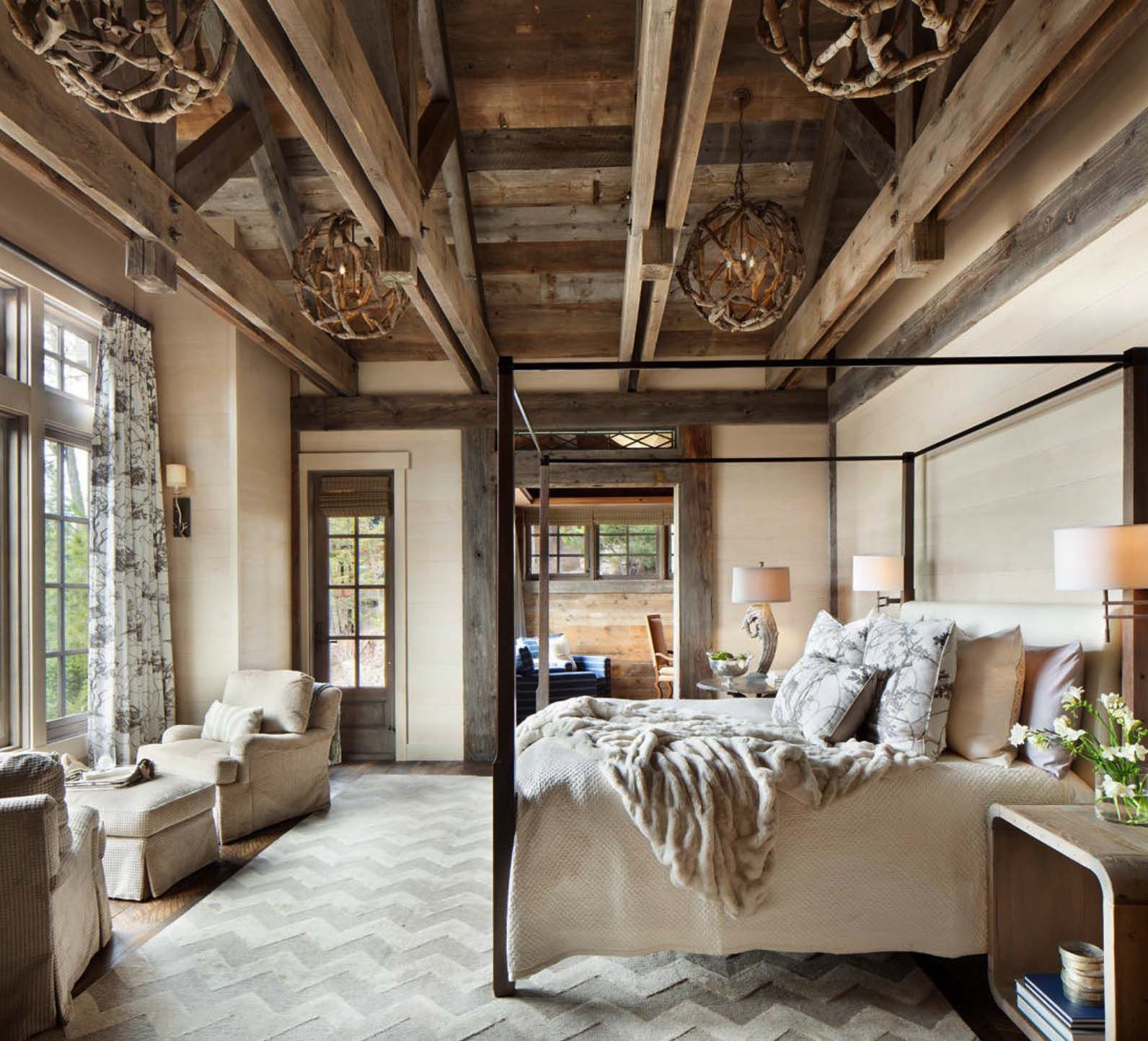40 Amazing Rustic Bedrooms Styled To Feel Like A Cozy Getaway Modern Rustic Bedrooms Rustic Bedroom Design Rustic Style Bedroom