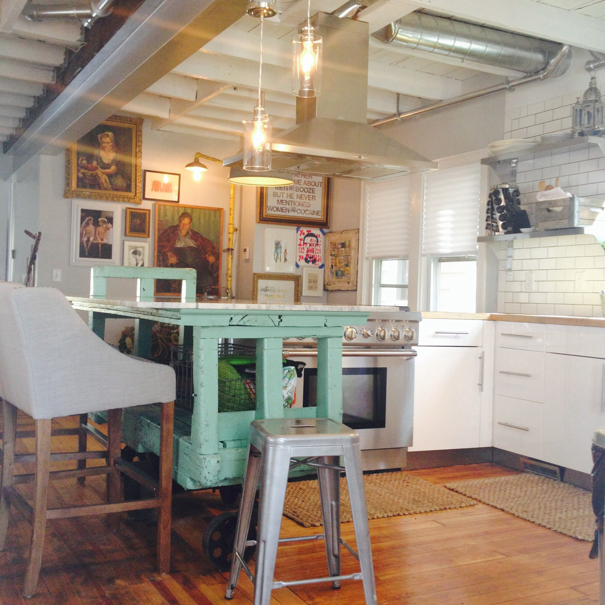 kitchen-compromise? Some modern, industrial components and ...