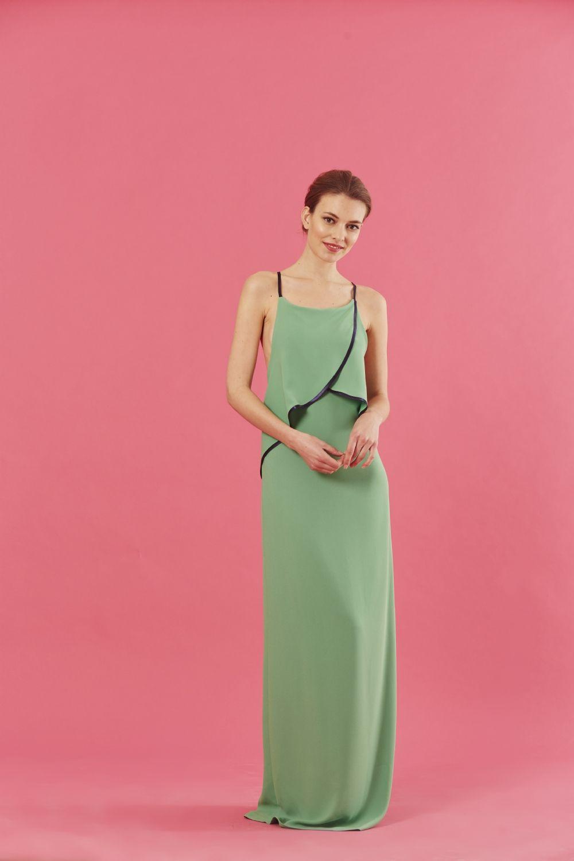 Hermosa Vestido Verde Boda Ideas Ornamento Elaboración Festooning ...