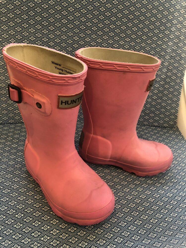 CUTE! Hunter Little Girls Boots Pink