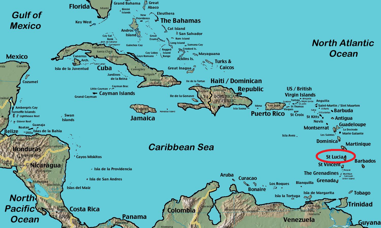 Saint Lucia Island on the Map | Saint Lucia Island | Pinterest
