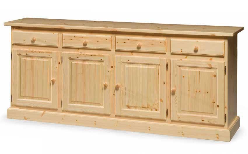 Piccola Credenza Rustica : Credenza rustica in legno massiccio di svezia proposta