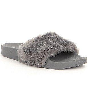 huge sale on sale nice shoes Steve Madden Softey Faux Fur Slide Sandals | Steve madden slides ...
