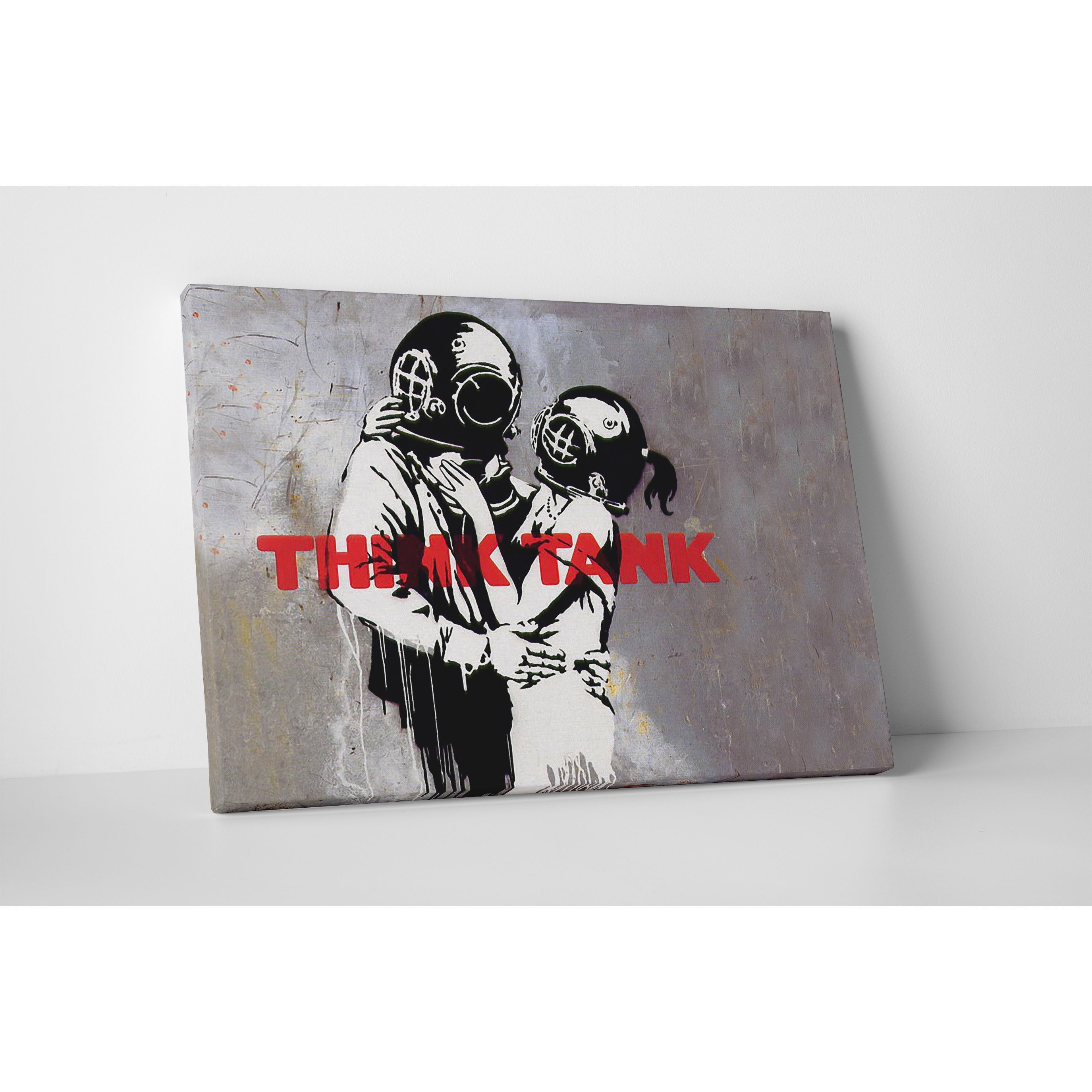 Banksy 'Think Tank' Gallery Wrapped Canvas Wall Art