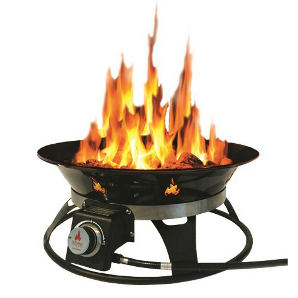Outland Firebowl Cypress 21 in. Steel Portable Propane ... on Outland Firebowl Cypress id=92160