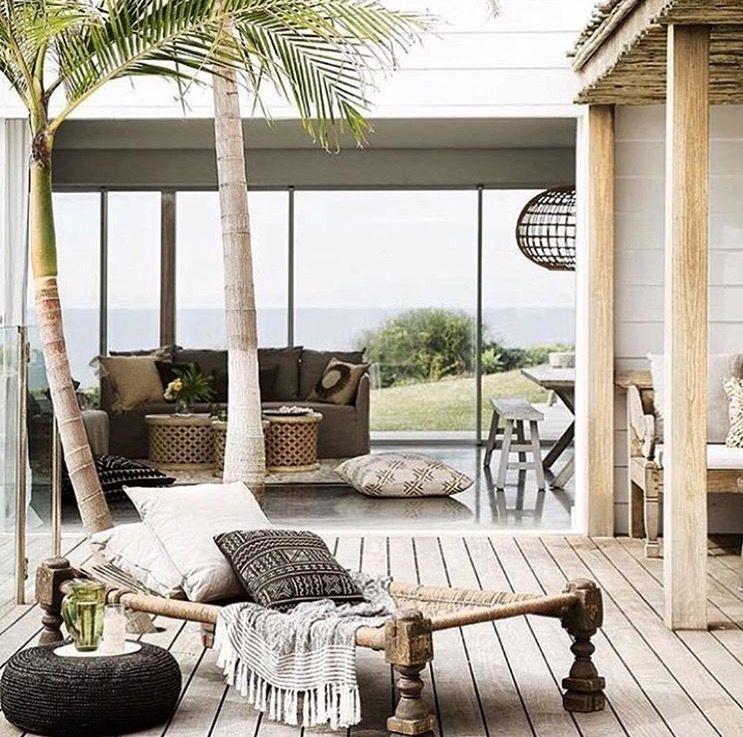 Afro tropical outdoor deck design | Home ADORE | Pinterest | Deck ...