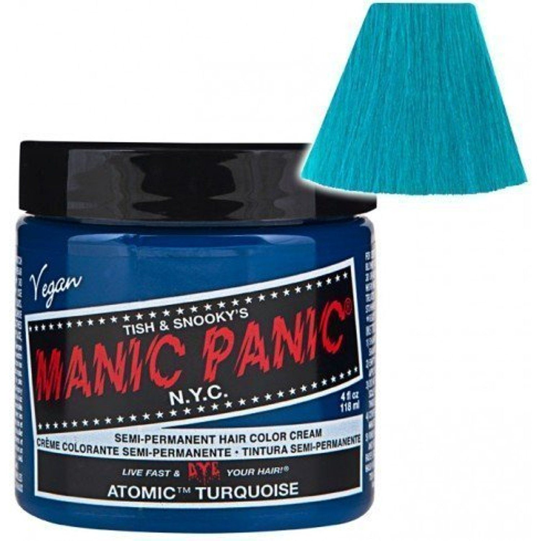 Manic panic atomic turquoise hair dye body care beauty care