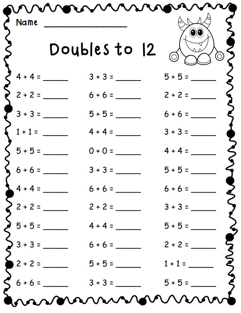 Math Worksheets For Grade 1 Math worksheets, Kids math