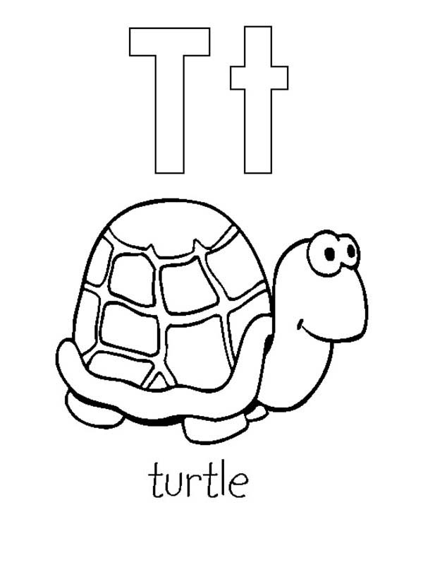 Letter T Is For Turtle Coloring Page Bulk Color In 2020 Turtle Coloring Pages Abc Coloring Pages Mermaid Coloring Pages