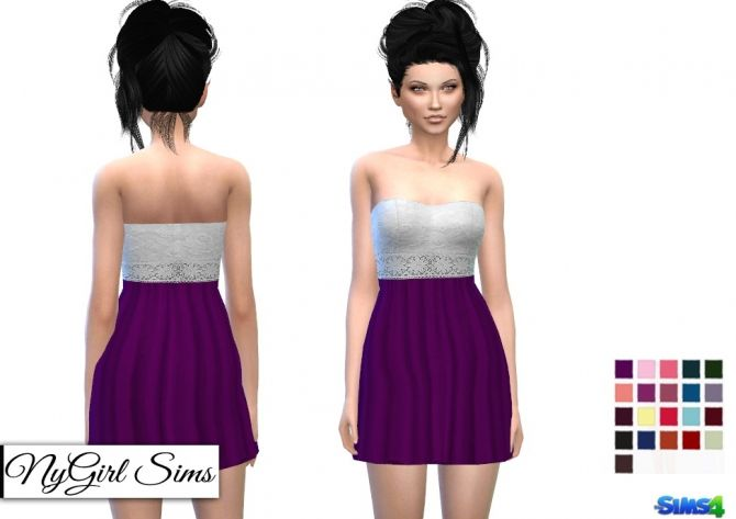 Crochet and Lace Top Dress at NyGirl Sims via Sims 4 Updates