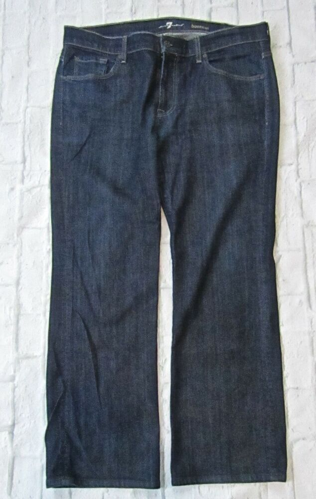7615d857 Mens 7 For All Mankind Bootcut Jeans Dark Wash Size 38x30 #7ForAllMankind
