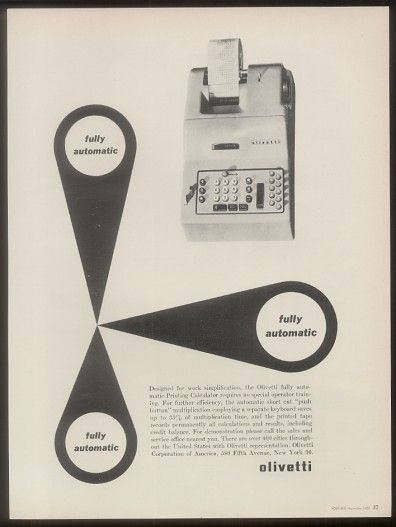Fully automatic Ad, 1952