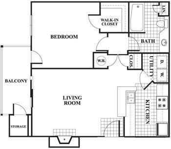 one bedroom floor plans - Google Search | Floor Plans | Pinterest ...
