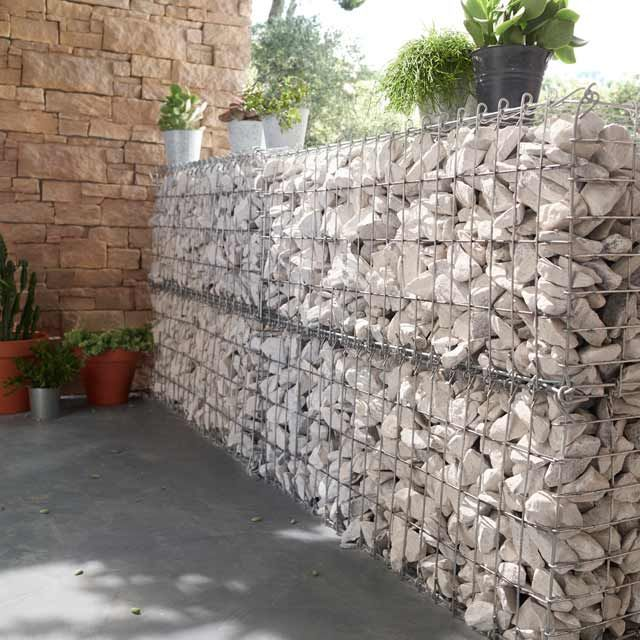 gabion 100 x 40 x 30 castorama screens et palissades. Black Bedroom Furniture Sets. Home Design Ideas