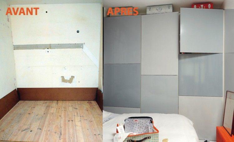 Monter Un Mur De Rangements Dans Une Chambre Tutoriel Placard Construire Un Placard Rangement Combles