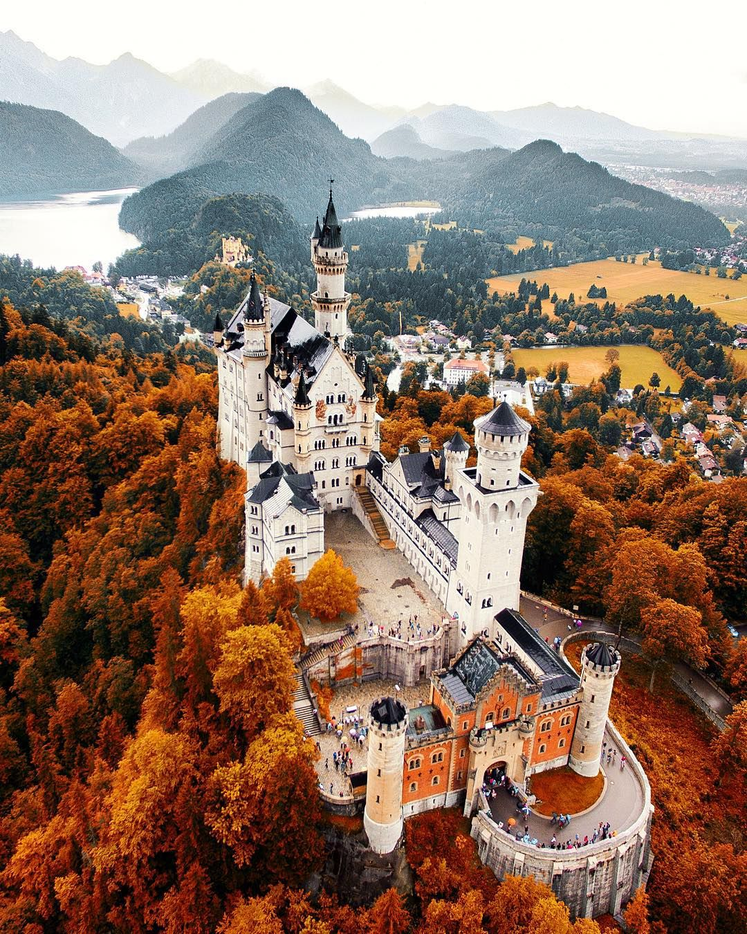 Autumn End   Tag someone you would live here with  My bro @bengreenphotography is on the way to 30k - head over to his page and check out his epic work it's totally worth a follow!  #gofollow  An epic drone shot of Neuschwanstein Castle which myself and @lmt_ shot on our Europe trip! I have to head back and capture this in the snow  But for now here is my Autumn edit for you!  by jacob