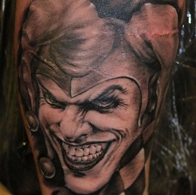 top 10 joker tattoo designs jester tattoo tattoo and tattoo designs. Black Bedroom Furniture Sets. Home Design Ideas