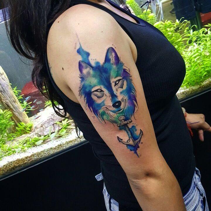 Tatuajes De Lobos En Acuarela