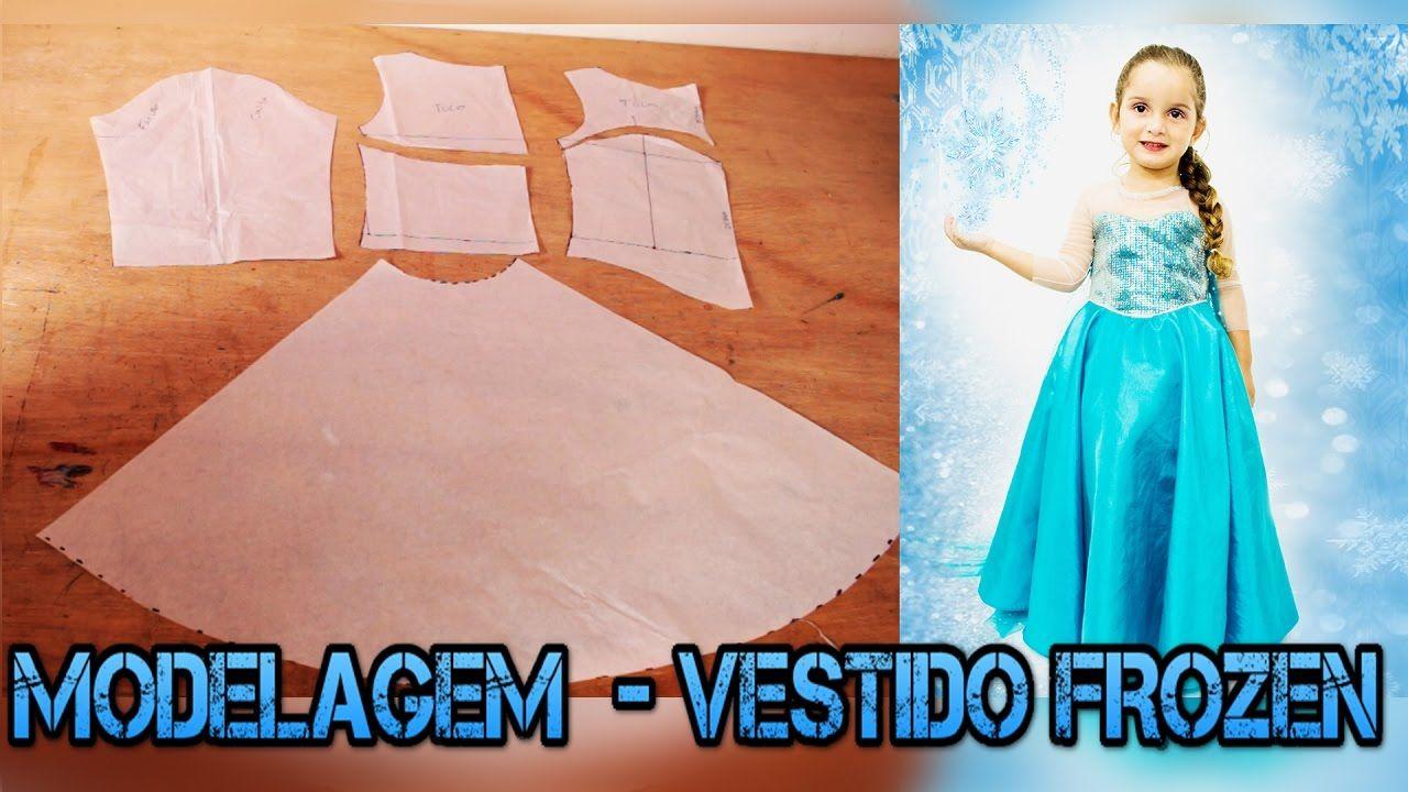 MODELAGEM: Vestido Inspirado na Princesa Elsa- FROZEN | VESTIDO ELSA ...