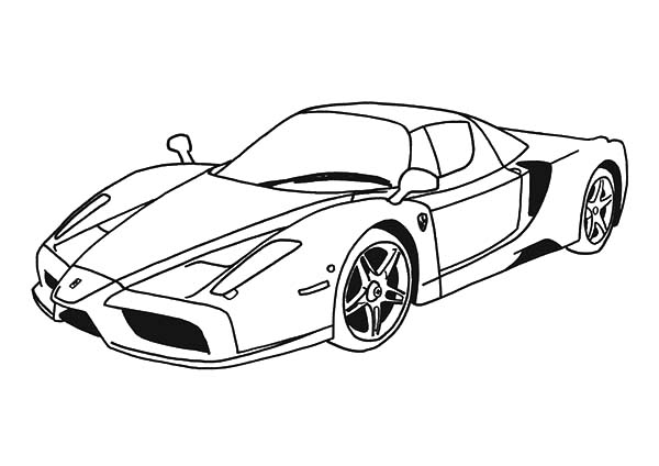 Top Speed Cars Enzo Ferrari Coloring Pages Kids Play Color In 2020 Cars Coloring Pages Sports Coloring Pages Printable Sports