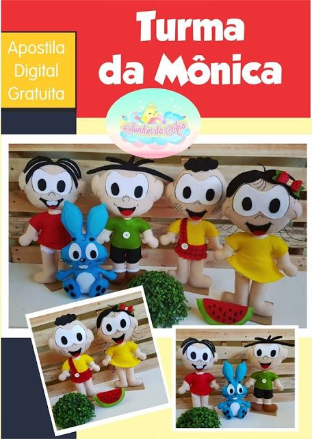 Apostila Digital Turma Da Monica Em Feltro Com Moldes Gratis Para
