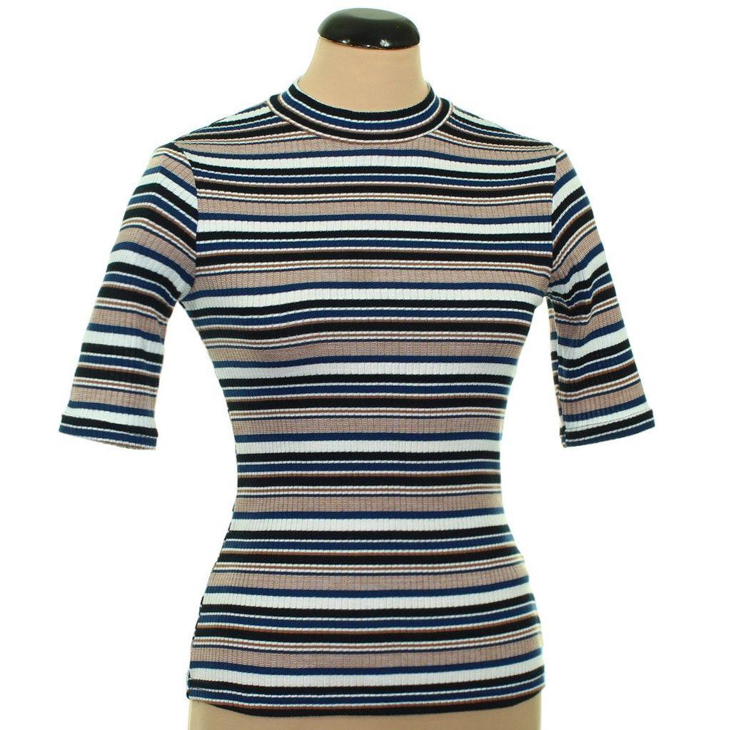 226300eacf New Look kék-fehér-barna csíkos felső | Felső, pulóver, póló - Női ...