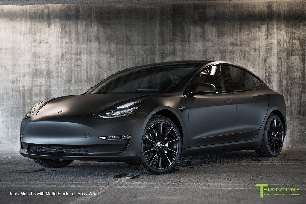 Tesla Model 3 With Matte Black Full Body Wrap Tesla Model Tesla Tesla Model X