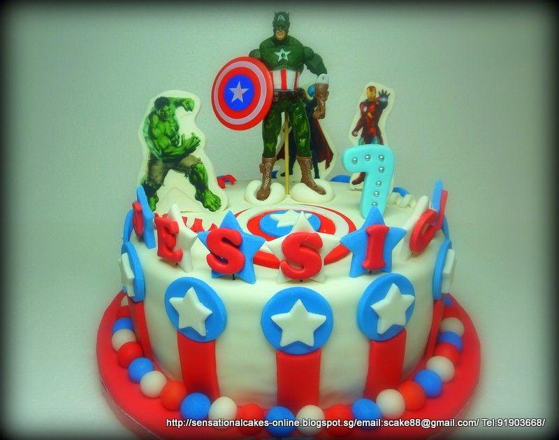Avengers Birthday Cakes Singapore Avengers cakes Pinterest