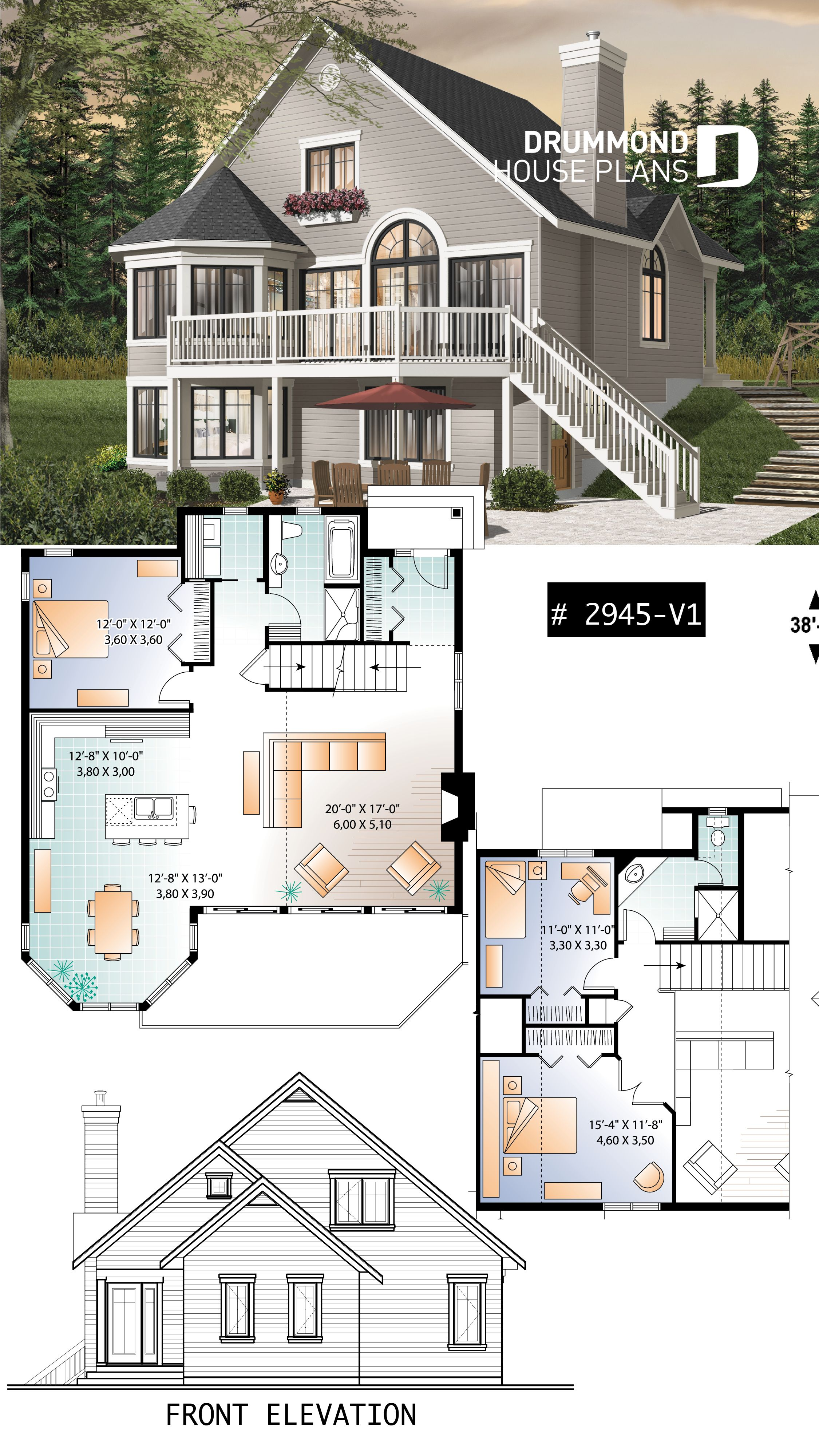 Discover The Plan 2945 V1 Rosemont 2 Which Will Please You For Its 3 Bedrooms And For Its Cottage Chalet Cabin Styles Sims House Plans Sims 4 House Building Sims 4 House Plans