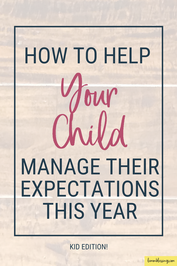 how to manage your expectations