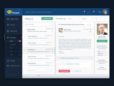 Ubergrad Message Inbox Inbox Messages Web Design