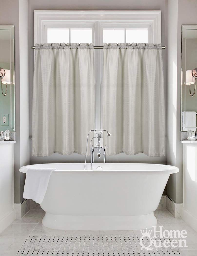 Size 2 Pieces Tier Window Curtain For Small Window Size 36 Inch