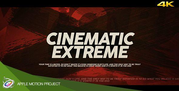 Cinematic Extreme Trailer - Apple Motion #4K, #Brush, #CinemaEternal, #Cinematic, #Extreme, #Film, #Grunge, #Modular, #Movie, #Opener, #Splatter, #Sports, #Titles, #Trailer, #UHD, #Vintage https://goo.gl/kmasaJ