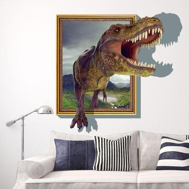 New  dinosaur  rex removable wall stickers decal kids room home decor usa products pinterest and also rh