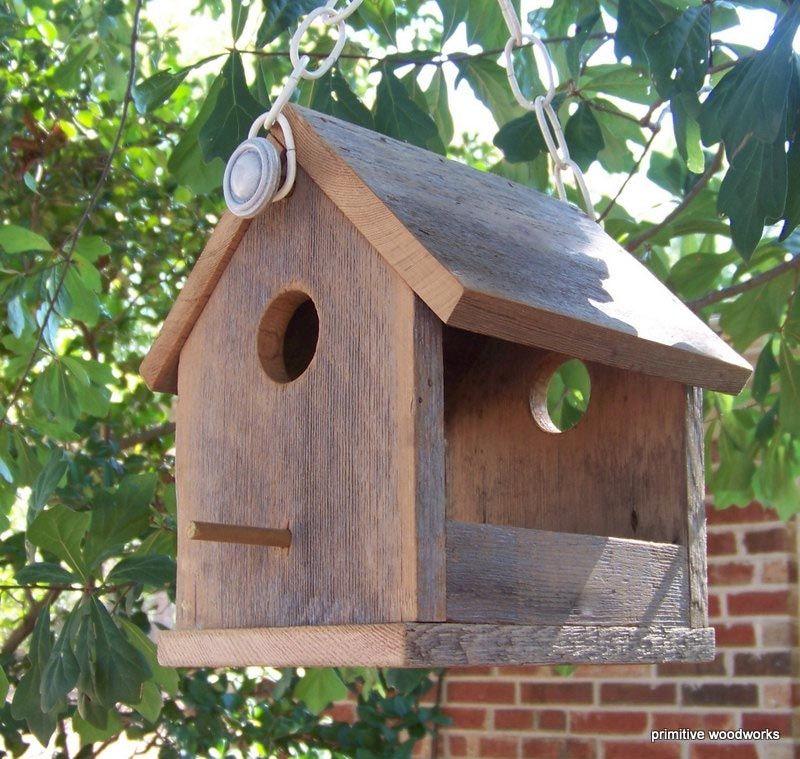 Rustic Wooden Bird Feeders Bird Feeders Wood Bird Feeder Wooden